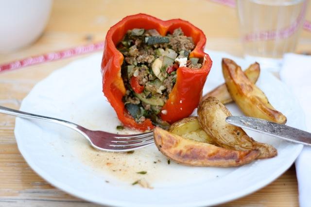 kitchencat-gefüllte Paprika von innen