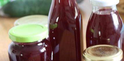 Experimentelles Himbeer-Gelee und ganz normaler Himbeer-Sirup